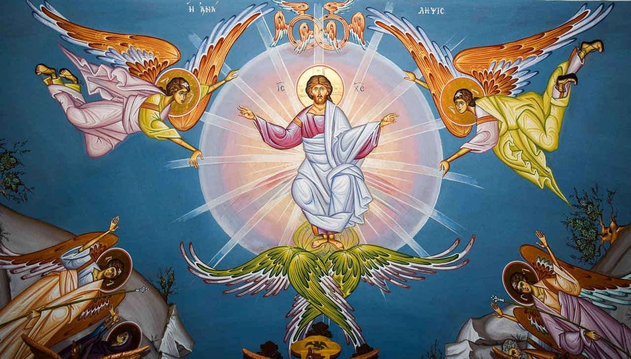 Ikonenmalerei Christi Himmelfahrt