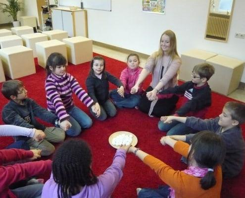 Kinder im Unterricht der Dommusik